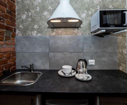 Мини-кухня в номере комфорт с сауной