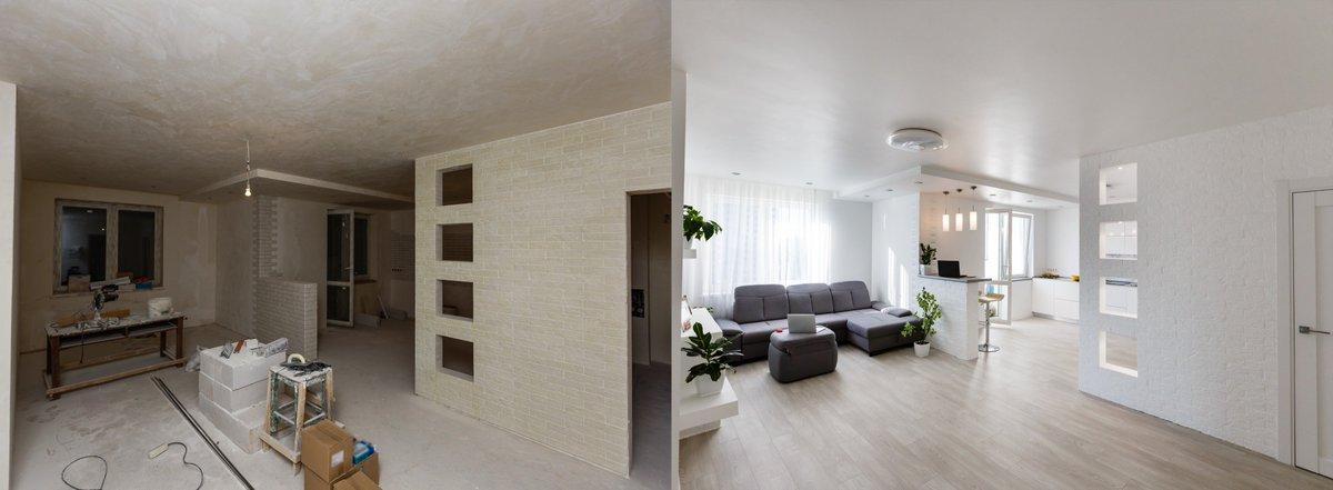 До и после ремонта квартиры для посуточной аренды